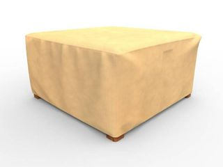 Budge Water Resistant Outdoor Square Patio Table Cover    Ottoman Cover  All Seasons  Nutmeg  Multiple Sizes