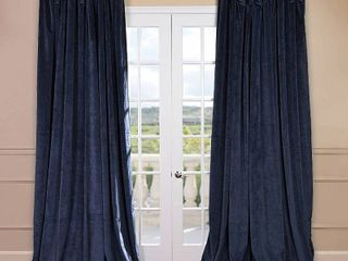 1 panel  Eff Signature Velvet Double Wide Blackout Window Curtain