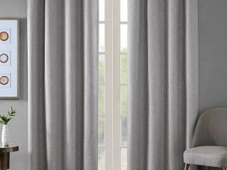 1 panel  Arlie Printed Heathered Blackout Single Window Curtain Panel by SunSmart