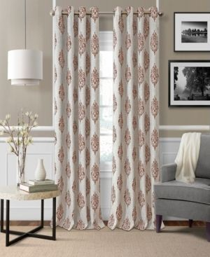 1 panel  Navara Medallion Room Darkening Window Curtain