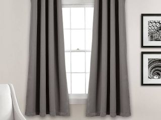 1 pair  lush Decor Insulated Grommet Blackout Curtain Panel Pair