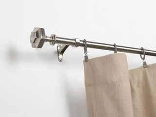 Miranda Haus Twig Satin Silver Expandable Curtain Rod