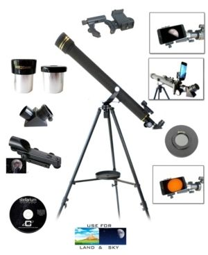 Galileo 700mm x 60mm Telescope w Smartphone Adapter   Solar Filter Retail 101 49