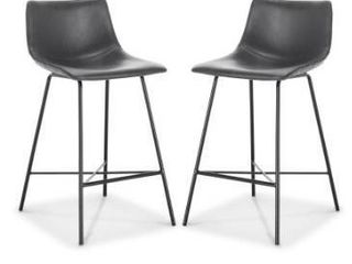 Poly and Bark Paxton 24  Counter Stool  Set of 2  Retail 285 99
