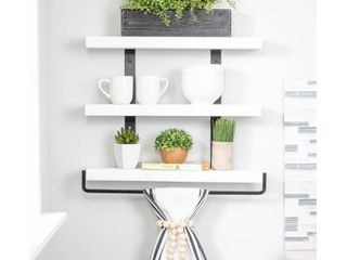 Del Hutson Designs Industrial Grace Three Tier Floating Shelves Retail 79 98