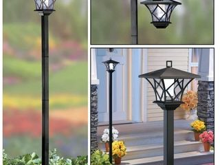 Black  SB Modern Home Solar lED Street lamp Post