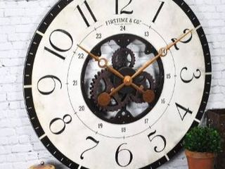 Bronze  FirsTime   Co  Carlisle Gears Wall Clock  Wood  27 x 2 x 27 in  American Designed   27 x 2 x 27 in Retail 87 99