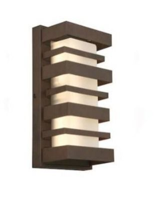 Portfolio outdoor wall light rust finish