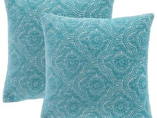Mosaic Petal Chenille Pillow Cover 18 X18 Set of 2