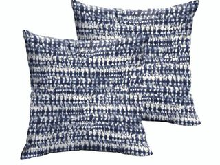 Mozaic Company 18 inch pillow swavelle  perron indigo  set of 2