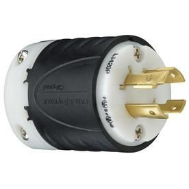 Pass   Seymour l1420PCCV3 Industrial Specification Grade Turn lock Plug  Four Wire 20 Amp 125 volt 250 volt Ip20 Regulation Suitable