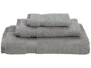 Silver  Miranda Haus Plush   Absorbent 600 GSM Egyptian Cotton 3 piece Towel Set