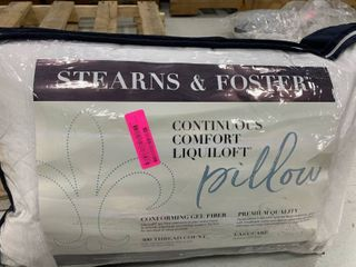 Stearns and Foster liquiloft Continuous Comfort Quilted Pillow