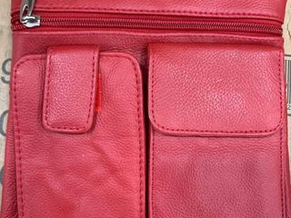 Vallemosso red leather purse