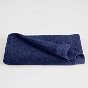 Set of 8 Izod Blue Bath Towels  Damage  see photos