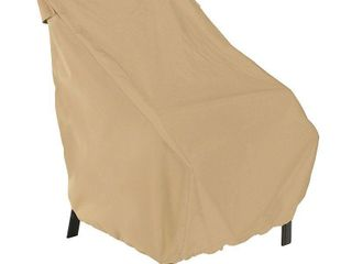 Pair of Beige  Classic Accessories Terrazzo Water Resistant 28 5 Inch Patio Chair Cover