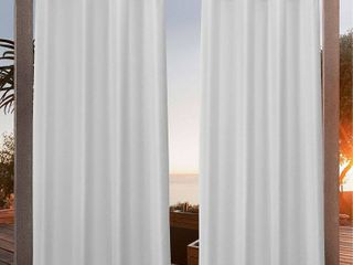 54x84   Winter  Nicole Miller Canvas Outdoor Grommet Top Curtain Panel Pair