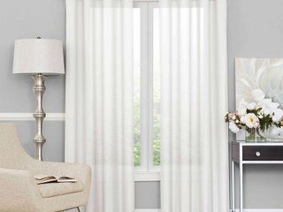 Eclipse liberty light filtering Sheer Single Curtain Panel