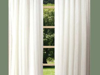 lucerne Semi sheer back tab Panel Pairs 104 x84  White