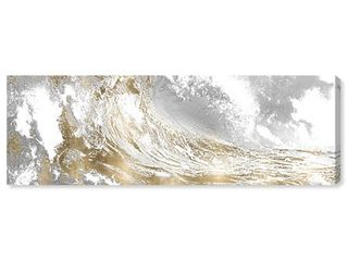 Oliver Gal  Wave in a Moment Gold  Nautical and Coastal Wall Art Canvas Print   Gold  White Retail 175 99