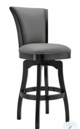 Raleigh Grey 26  Swivel Bar Stool