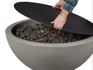 Real Flame 136 Black Redding Aluminum lid Cover For Medium Real Flame Bowl Fire Pits