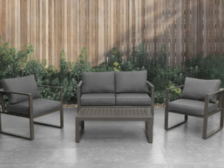 4 Piece Patio Conversation Set with Coffee Table