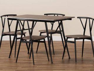 Brown Ciara Modern and Contemporary 5 Piece Dining Set Retail  225 49