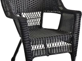 Black Resin Wicker Chair