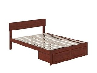Boston Bed with Foot Drawer Walnut Full