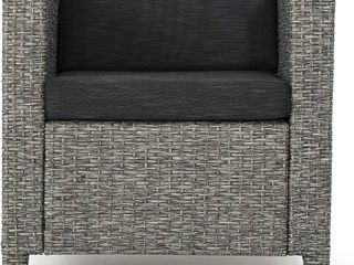 Puerta Outdoor Wicker Club Chair with Cushions