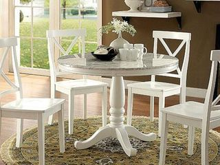 Penelope Collection 42in Round Table Faux Marble Table Top