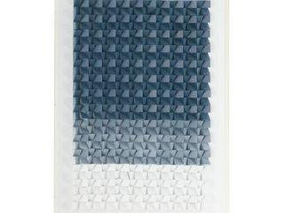 Rectangular Blue and White Acrylic Shadow Box Wall Art  Retail 405 49