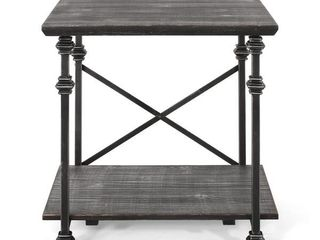 Morell Modern Industrial End Table