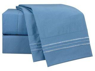 Blue Heaven Queen Clara Clark Bright Color Collection Bed Sheet Set