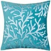 Teal Porch  amp  Den Vinemaple Velvet Sea life Accent Pillows  Set of 2  Retail 95 49