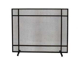 Cabarrus Modern Single Panel Fireplace Screen