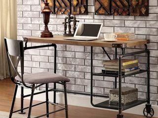 Furniture of America Wini Industrial Black 47 inch Solid Wood Desk   Retail 261 24