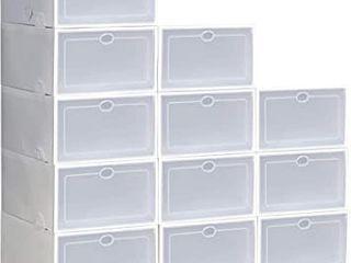 Clear Plastic Stackable Shoe Storage Boxes Shoe Pack