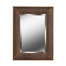 Andora Wall Mirror with Rustic Frame
