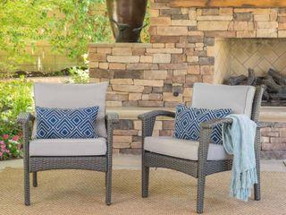 Honolulu Outdoor Wicker Club Chairs x 2