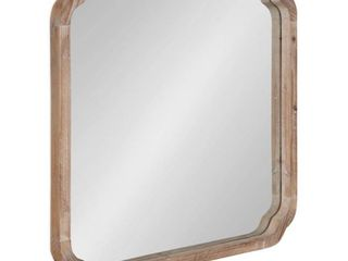Kate and laurel Marston Square Wood Wall Mirror   Brown   24x24  Retail 136 49