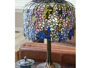 Gracewood Hollow Giuliani 30 inch Stained Glass lamp