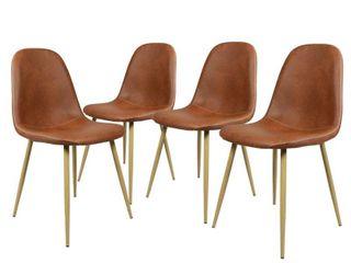 Carson Carrington Sagudden Modern Faux leather Dining Chair  Set of 4  Retail 239 49