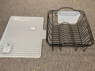 Steel Dish Drainer Black   Threshold   Dish Drying Rack Drainboard   Made By Design  RETAIl  20 00