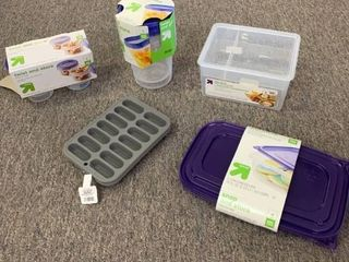 lot of 2 Silicone Ice Trays  8 Twist   Store Food Containers   Misc
