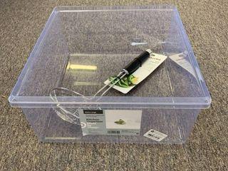 lOT  Extra large Kitchen Organizer Storage Bin   Made by Design   Kitchenaid Wire Strainer  RETAIl  29 99