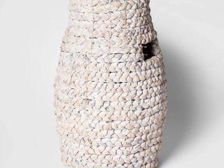 Decorative Braided Tall Basket White   Threshold   20 x13 3   RETAIl  36 99