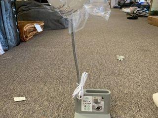 Gray Desk lamp w  USB Port Phone Charging ledge Stand   Built In Pen Holder