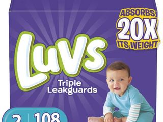 luvs Ultra leakguards  Size 2 Diapers  108 Ct  RETAIl  27 49